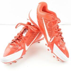 Nike Alpha Pro Cleats Size 10.5  White & Orange